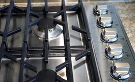 Överkant för gasrostfritt stålugn Royaltyfri Fotografi