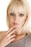 Överkant för kvinnafingercirklar Royaltyfri Bild