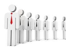 överkant för lag för affärsidégruppledare Arkivbild