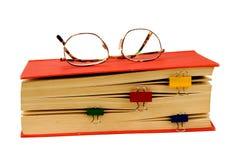 överkant för ordbokögonexponeringsglas arkivfoton