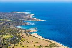 Överkant för ` s för berg för Cypern Akamas halvönationalpark Royaltyfri Bild