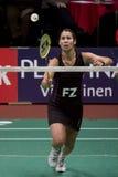 överkant för spelare för badmintonjudith meulendijks Arkivbilder
