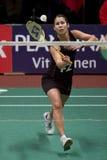 överkant för spelare för badmintonjudith meulendijks Arkivbild