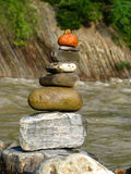 överkant för sten för pyramid för fokus lensbaby producerad selektiv Royaltyfri Foto