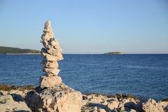 överkant för sten för pyramid för fokus lensbaby producerad selektiv Arkivfoto