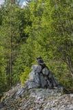 överkant för sten för pyramid för fokus lensbaby producerad selektiv Arkivfoton