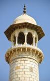 överkant för taj för india mahal minaretdel Arkivfoton