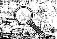 Överkant - hemlig inskrift Arkivbilder