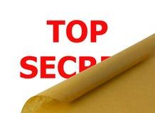 Överkant - hemlighet Arkivfoton