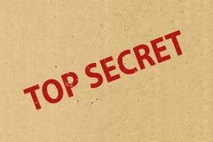 Överkant - hemligt symbol arkivfoto