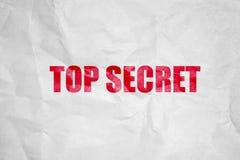 Överkant - hemligt symbol arkivbild