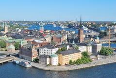 Överkant-sikt av Stockholm royaltyfri bild
