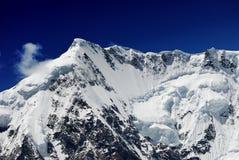 Överkanten av den Midui glaciären Royaltyfria Bilder