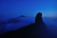 Överkanten av det Fanjing berget Arkivfoton