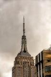 Överkanten av Empire State Building Arkivbild