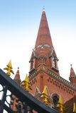 Överkanten av kyrkan i Shanghai Arkivbild