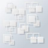 Överlappande bakgrund för fyrkantbegreppsabstrakt begrepp, illustra Arkivfoto