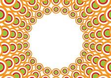 Överlappande cirklar Arkivbilder
