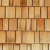 överlappar trä Arkivfoto