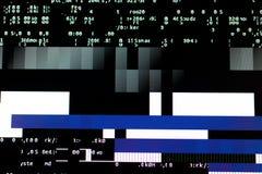 Överlasta diagramkortet på en dator Tekniska fel och kod Arkivbild