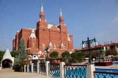 ÖVERRASKA huvudbyggnad för Kremlslotthotellet Fotografering för Bildbyråer