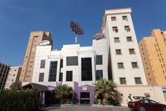 ÖVERRASKA restaurangen i Kuwait City Arkivbilder