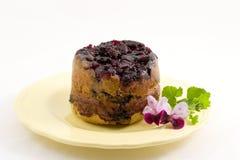 översida för blåbärcake ner Royaltyfria Foton