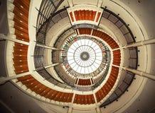 Översidasikt av en spiral trappuppgång Royaltyfri Fotografi