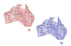 Översikt av återhållsamma Australien - vektorillustration vektor illustrationer