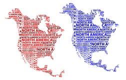Översikt av återhållsamma Nordamerika - vektorillustration stock illustrationer
