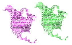 Översikt av återhållsamma Nordamerika - vektorillustration vektor illustrationer