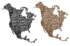 Översikt av återhållsamma Nordamerika - vektorillustration royaltyfri illustrationer