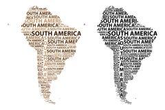 Översikt av återhållsamma Sydamerika - vektorillustration vektor illustrationer