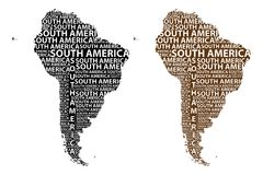 Översikt av återhållsamma Sydamerika - vektorillustration royaltyfri illustrationer