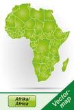 Översikt av Afrika Arkivbild
