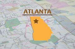Översikt av Atlanta georgia Royaltyfri Foto