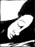 Översikt av att sova Person Close Up vektor illustrationer