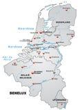 Översikt av Benelux Arkivfoto