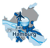 Översikt av BHamburg Royaltyfria Foton
