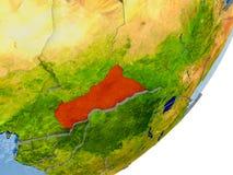 Översikt av centrala Afrika på jord Royaltyfria Foton
