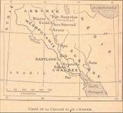 översikt av Chaldea och Assyrien stock illustrationer