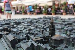 Översikt av den kluvna staden Arkivbild
