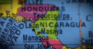 Översikt av det Costa Rica landet på jordklotet arkivfilmer