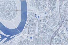 Översikt av Dusseldorf, satellit- sikt, dragen hand, Tyskland Royaltyfria Foton