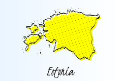 Översikt av Estland, abstrakt bakgrund för halvton r royaltyfri illustrationer