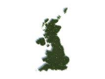 Översikt av Förenade kungariket serieländer ut ur realistiskt gräs Arkivfoton