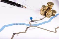 översikt av finansiell framgång Fotografering för Bildbyråer