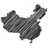 Översikt av folk` s Republiken Kina i vektorkonst royaltyfri illustrationer