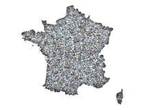 Översikt av Frankrike på vallmofrön Arkivfoto