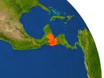 Översikt av Guatemala i rött Royaltyfri Fotografi